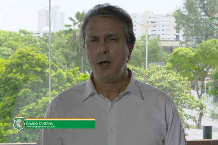 Camilo Santana pediu ajuda do governo Bolsonaro (Foto: REPRODUÇÃO/VÍDEO)