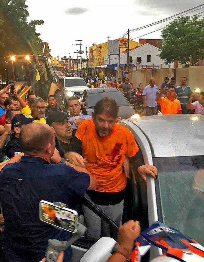 SENADOR Cid Gomes foi baleado em Sobral durante o motim da PM em fevereiro de 2020 (Foto: Reprodução)