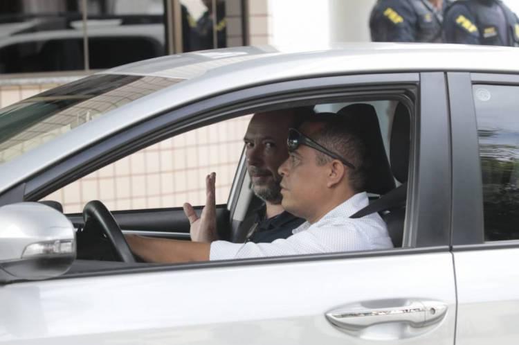 Ivo Gomes chegando ao Hospital do Coração em Sobral