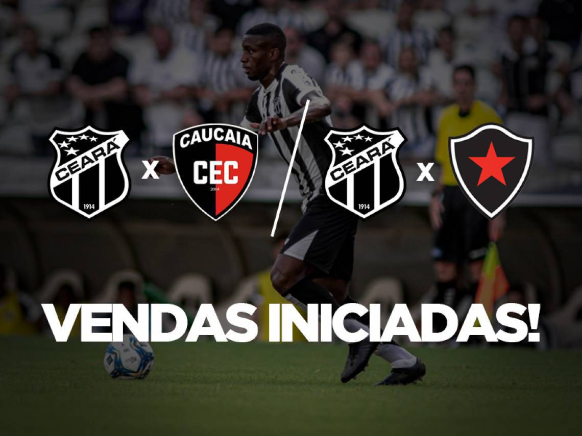 Ceará iniciou a vanda conjunta de ingressos para jogos contra Caucaia e Botafogo-PB