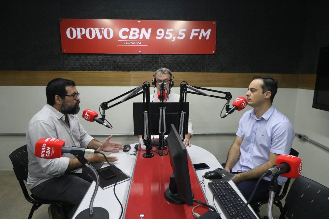Debates O POVO CBN com Capitão Wagner, deputado federal e Fabio Paiva, professor, mediador Marcos Tardin.