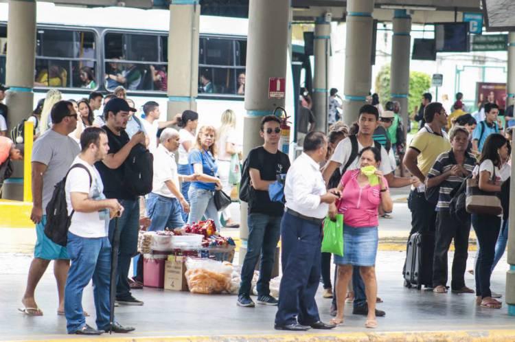 FORTALEZA, CE, BRASIL, 21-02-2020: Terminal e Metro da parangapa funcionam normalmente na manhã dessa sexta-feira, mesmo com a paralisação da Policia Militar (Foto: Thais Mesquita/O POVO)