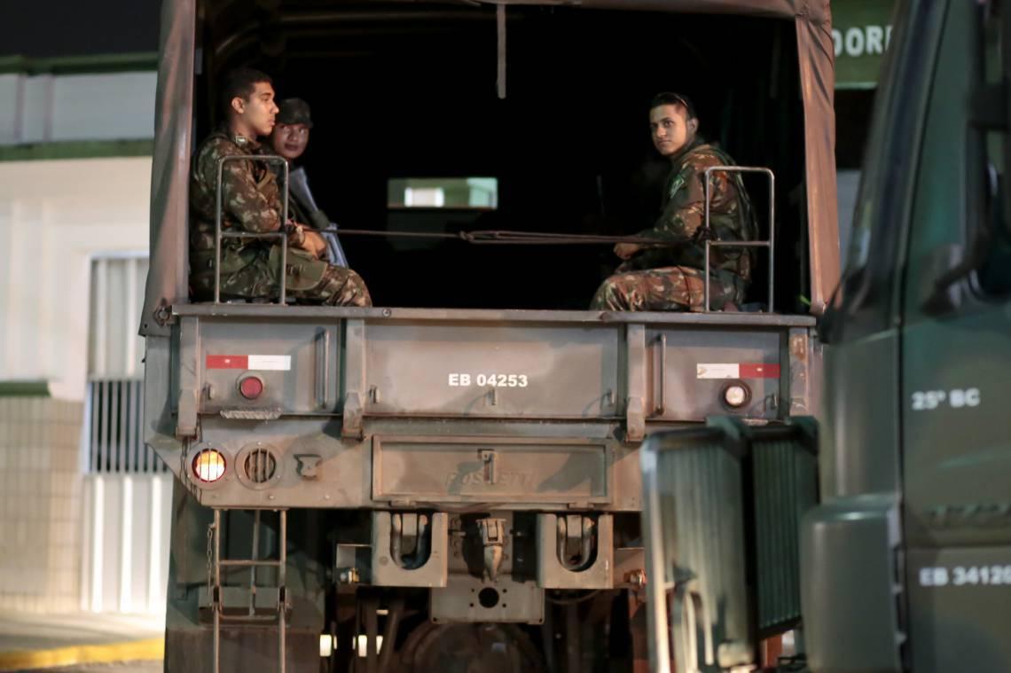 """REFORÇO da denominada """"Operação Mandacaru"""" começou a chegar a Fortaleza na sexta-feira, 21"""