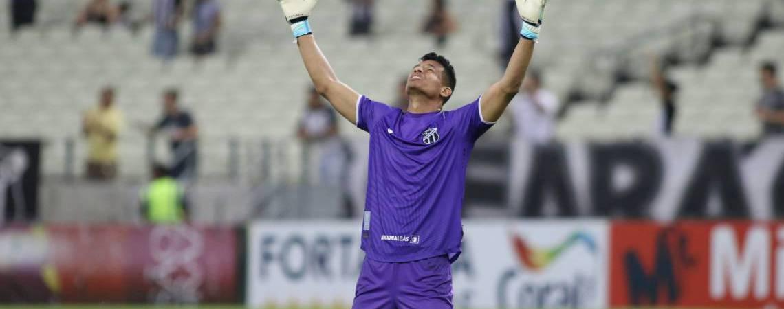 Diogo Silva, goleiro do Ceará, foi herói do título do Brasileirão de Aspirantes (Foto: Pedro Chaves)