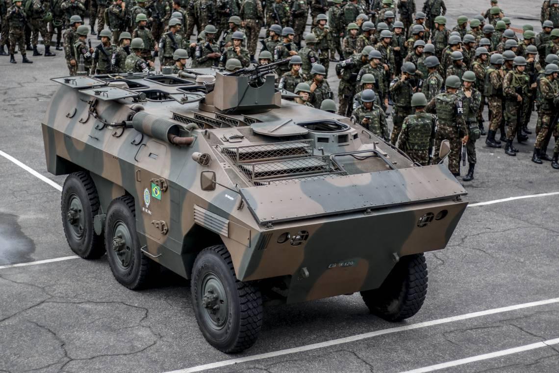 Forças Armadas estavam atuando no Estado com tropas em veículos e a pé, além de blindados e helicópteros