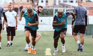 Ceará realizou treinamento na tarde desta segunda-feira, 24, com foco em duelo da Copa do Nordeste