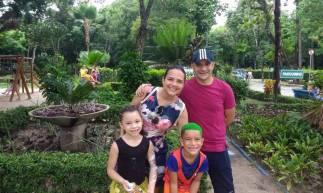 Da esquerda para a direita: Heli Jorge, Cristiane Carvalho, Heli Filho, e Alice