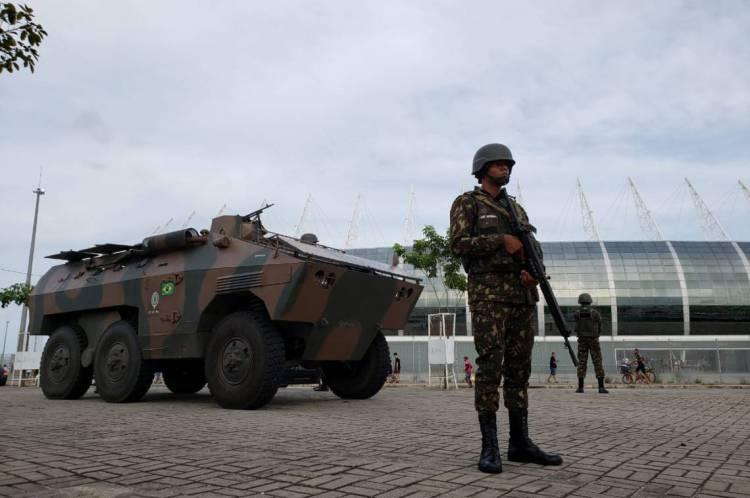 Esquema de segurança contará até com homens do Exército Brasileiro