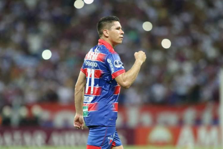 Osvaldo está entre os titulares escalados por Rogério Ceni no Fortaleza para o duelo contra o São Paulo (Foto: JL Rosa)
