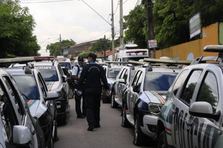 Batalhão do 18º de Polícia Militar voltou à rotina após acordo para o fim da paralisação dos policiais (Foto: MAURI MELO/O POVO)