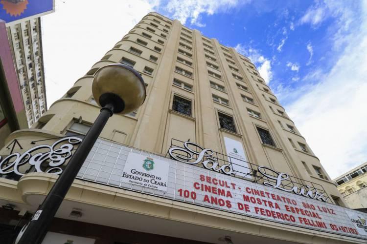 Por motivos de segurança sanitária, a programação do Cineteatro São Luiz é totalmente online (Foto: DEÍSA GARCÊZ/Especial para O POVO)