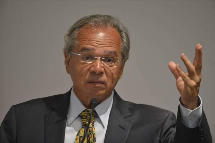 Ministro da Economia, Paulo Guedes, defendeu que isolamento social não entrava a estabilidade econômica do Brasil (Foto: Valter Campanato/Agência Brasil)