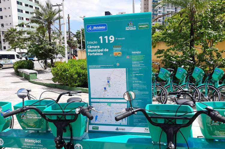 Bicicletas estão sendo higienizadas diariamente, segundo a Prefeitura