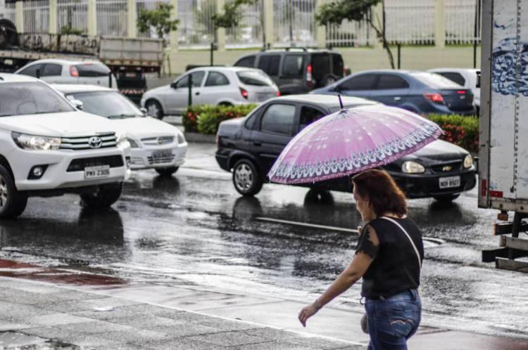Avenida Aguanambi em dias de chuva