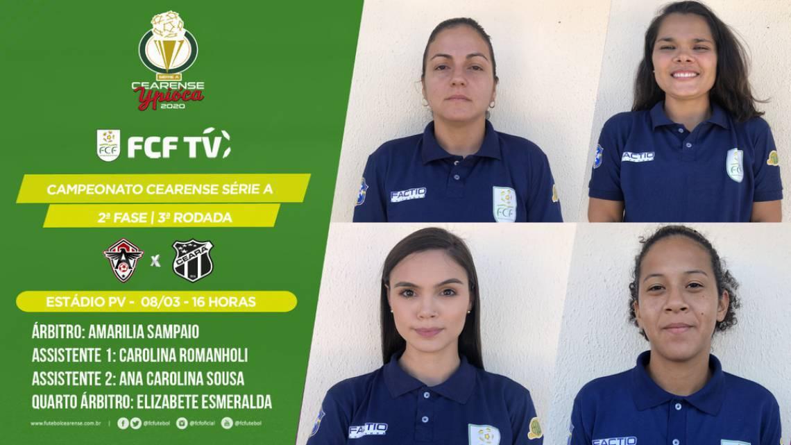 Jogo entre Atlético-CE e Ceará será apitado por mulheres