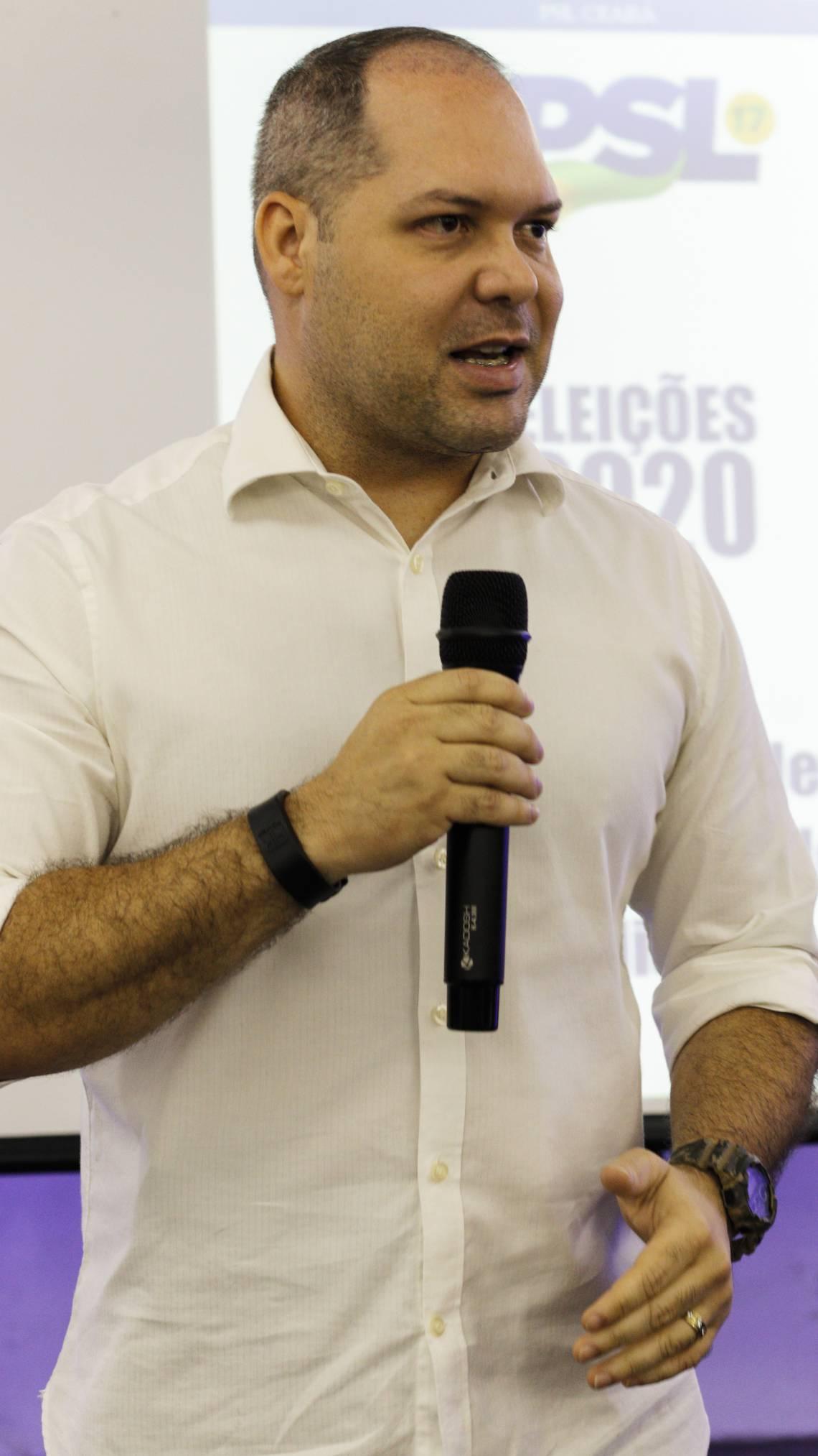 Heitor Freire, candidato a prefeito pelo PSL (Foto: Sandro Valentim/O POVO)