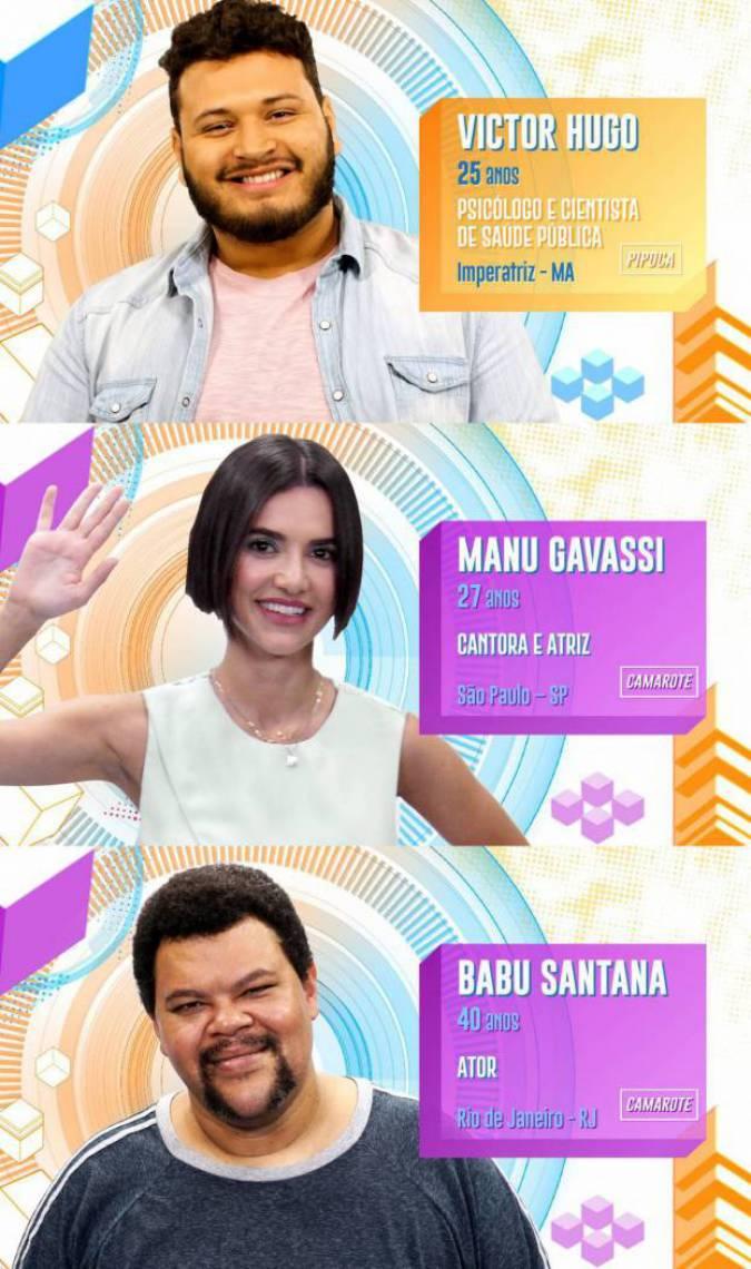 Victor Hugo, Manu Gavassi e Babu estão no paredão do BBB20. Vote na enquete