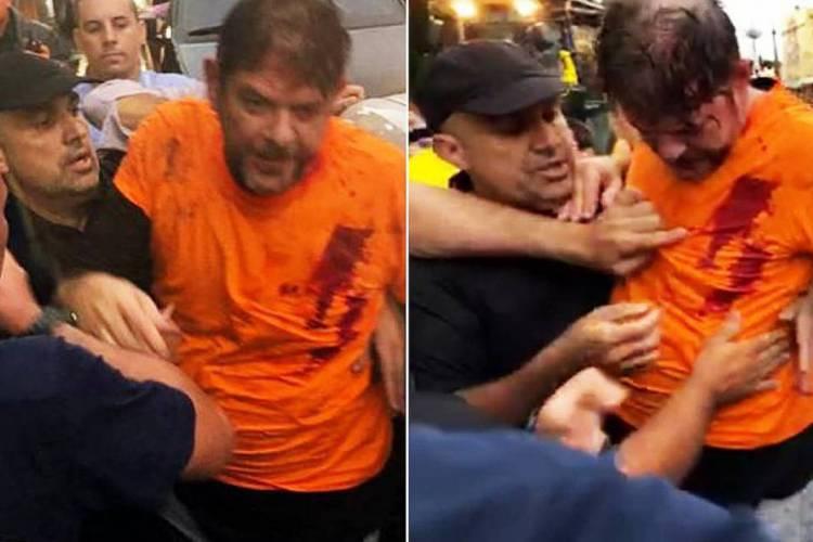 Durante motins de PMs, Cid Gomes dirigia uma retroescadeira contra portão de quartel quando foi alvejado (Foto: Reproduções)