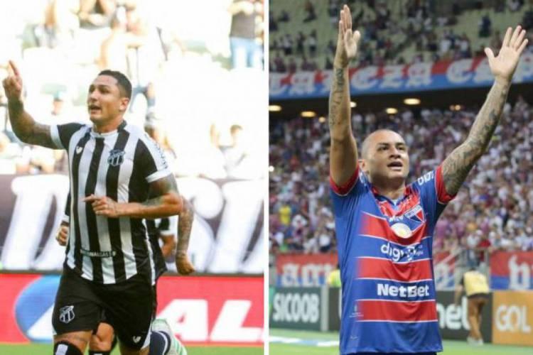 Vina e Wellington Paulistas são referências nos ataques de Ceará e Fortaleza, respectivamente (Foto: JL ROSA E JULIO CAESAR/O POVO)