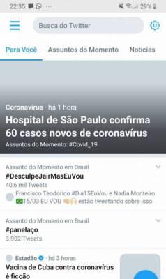 A hashtag #DesculpeJairMasEuVou chegou aos assuntos mais comentados do Twitter.