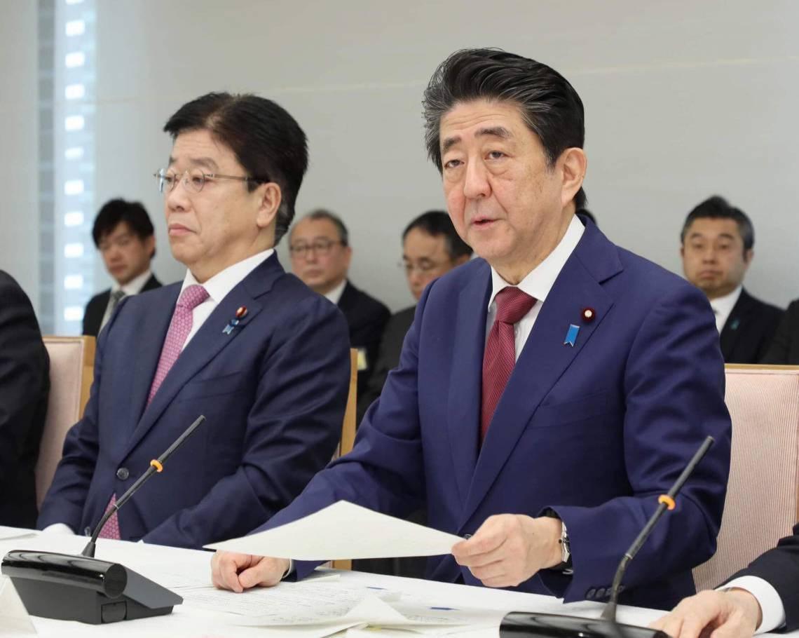 O primeiro-ministro japonês Shinzo Abe