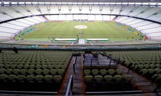 FORTALEZA, CE, BRASIL, 15.03.2020:  Jogo Ceará vs Sport arena Castelão portões fechados COVID19.  (Fotos: Fabio Lima/O POVO)