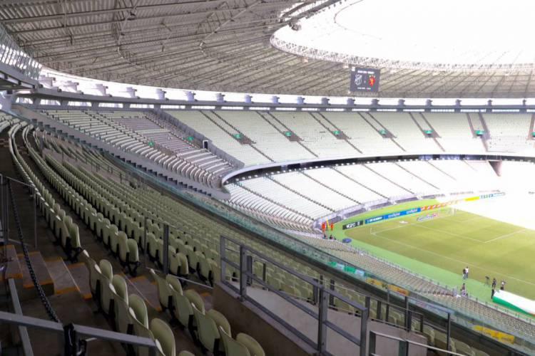 Arena Castelão vazia durante a pandemia  (Foto: Fábio Lima/O POVO )