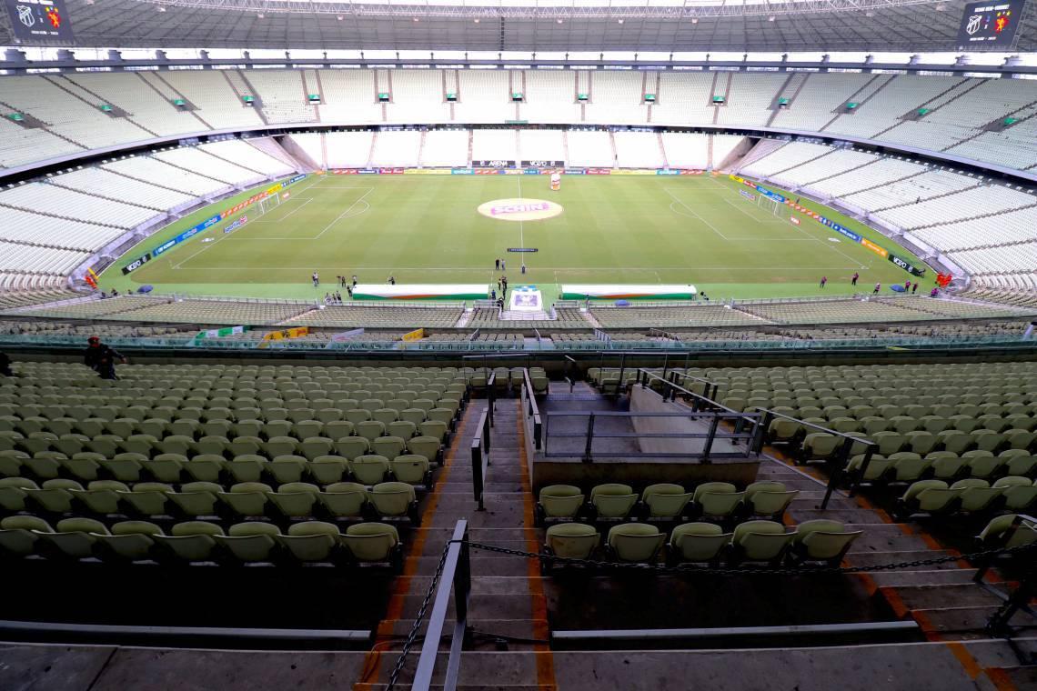 Última partida do Ceará antes da paralisação do futebol ocorreu contra o Sport com portões fechados