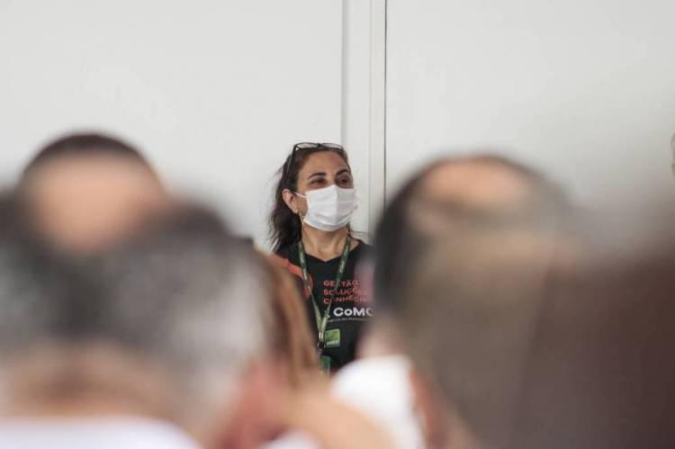 FORTALEZA, CE, BRASIL, 17.02.2020: Prefeitos do Ceará se reunem para ouvir orientações sobre o novo Coronavírus na sede do APRECE, no bairro Aldeota. (foto: Thais Mesquita/O POVO)