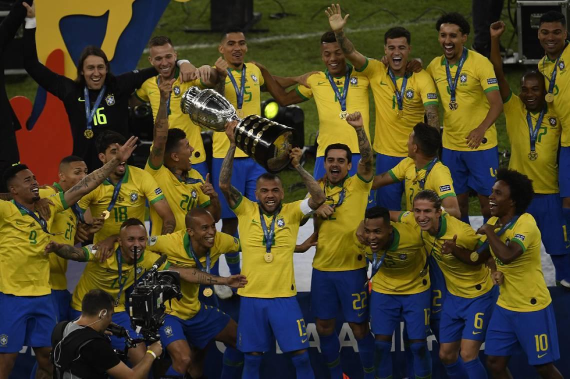 Brasil foi campeão da última Copa América, em 2019