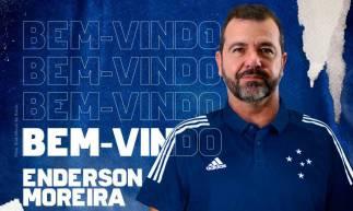 Arte divulgada pelo Cruzeiro nas redes sociais para anunciar a contratação de Enderson.