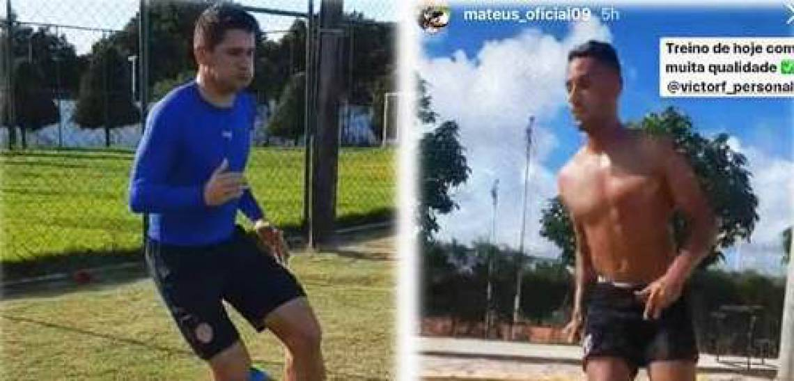 Osvaldo e Mateus Gonçalves têm postado treinos diários desde o início da quarentena