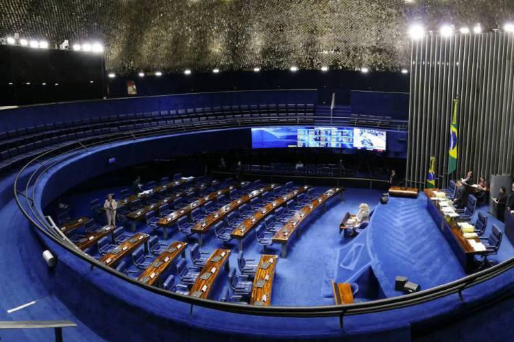 BRASILIA, DF, BRASIL, 23-05-2017: Plenário do Senado Federal vazio. (Foto: Marcos Oliveira/Agência Senado).