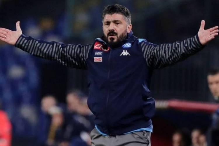 Gennaro Gattuso é o atual técnico do Napoli  (Foto: AFP)