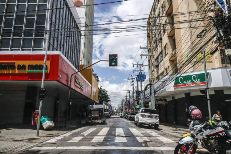 Impacto do comércio fechado será visto no PIB do Ceará (Foto: Barbara Moira)