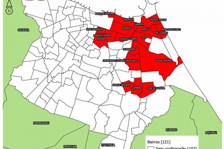 Maioria dos casos está distribuída na Regional II  (Foto: Reprodução)