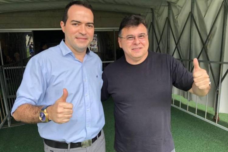 """Dirigentes Marcelo Paz e Robinson de Castro estão unidos em busca da aprovação da """"Lei do Mandante"""" (Foto: Divulgação/Cearásc.com)"""