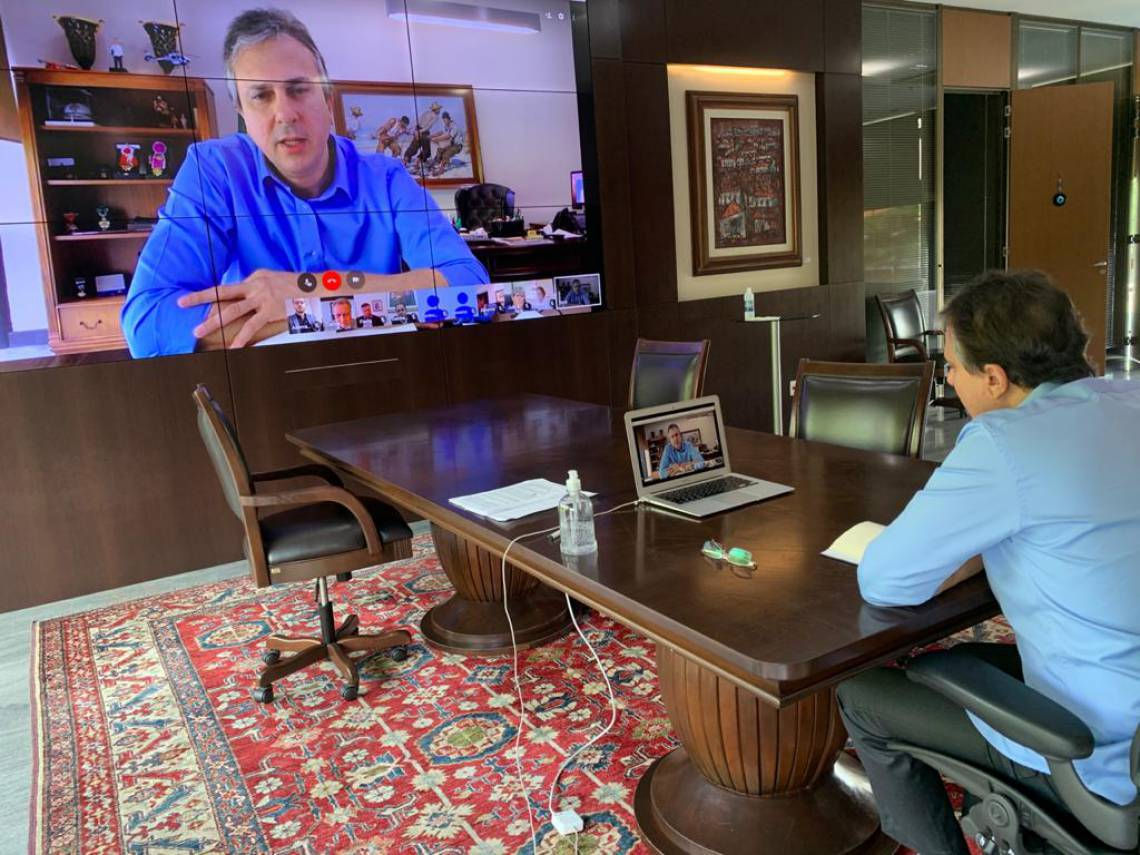 CAMILO participou de reunião por videoconferência com os outros oito governadores da Região (Foto: Divulgação)