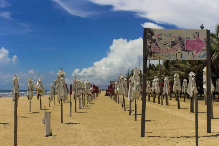 FORTALEZA, CE, BRASIL, 21-03-2020: Praia do futuro vazia por conta do período de quarentena no Ceará. (Foto: Beatriz Boblitz/ O POVO) VA 04.04 (Foto: BEATRIZ BOBLITZ)