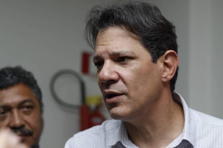 Haddad disputou as últimas eleições presidenciais em 2018 e foi para o segundo turno. (Foto: ALEX GOMES/O POVO)