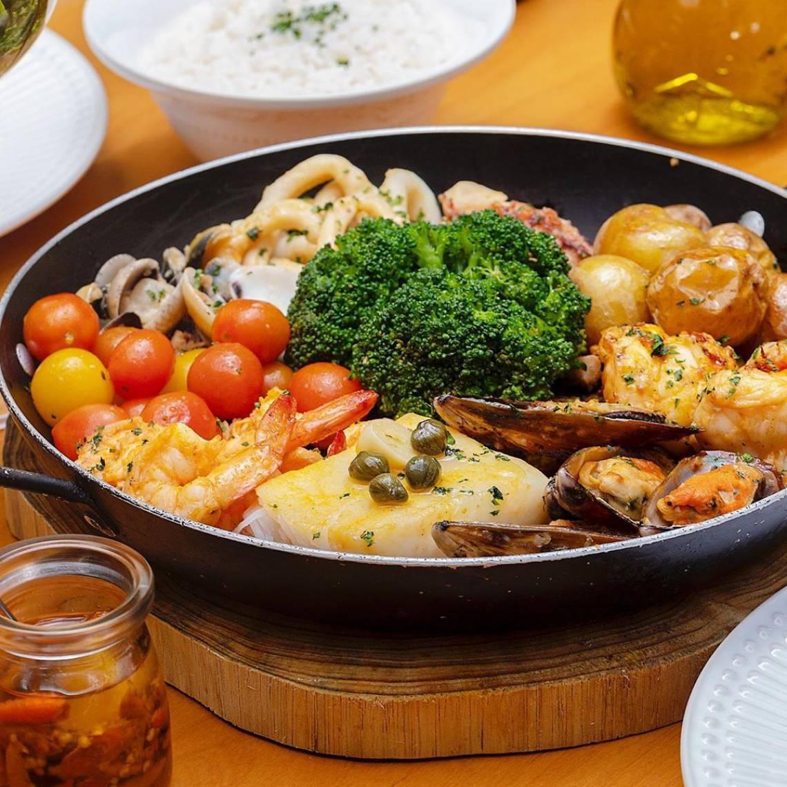 Os pratos do Cocina 378 têm inspiração na culinária ibérica e mediterrânea