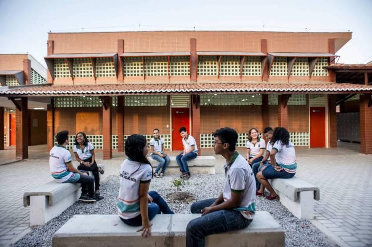 Escola de Ensino Médio de Tempo Integral (EEMTI) Marconi Coelho Reis, no município de Cascavel, na Região Metropolitana de Fortaleza (RMF)