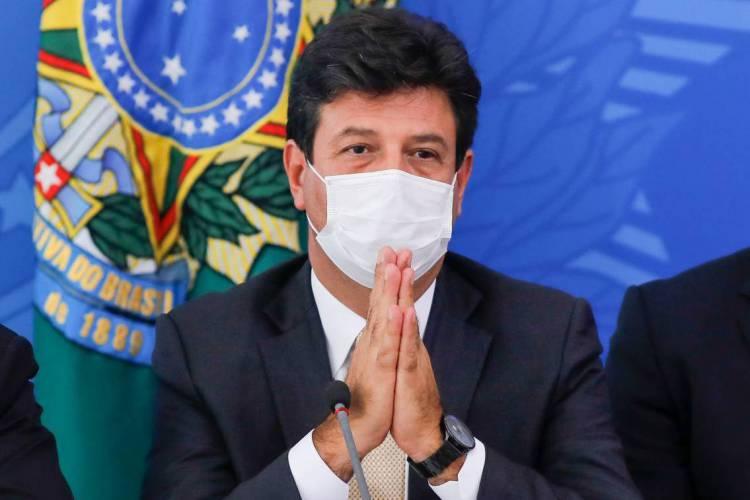 Ministro da Saúde, Luiz Henrique Mandetta, (Foto: Sergio LIMA / AFP)