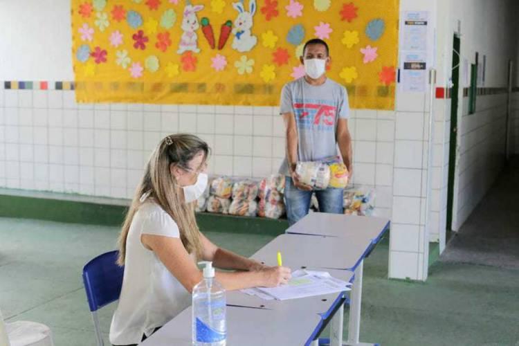 Começa segunda etapa da entrega dos kits de alimentação (Foto: Divulgação/PMF)