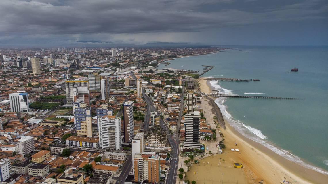 Fortaleza, Ceará Brasil 30.03.2020  Vista aérea da cidade de Fortaleza em um dia bonito pra chover  (Fco Fontenele/O POVO) CORONA 05.04