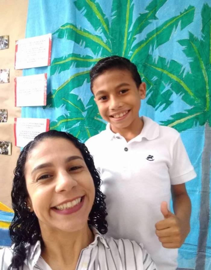 Paula Naddaf e o filho Gustavo (Foto: Acervo pessoal)