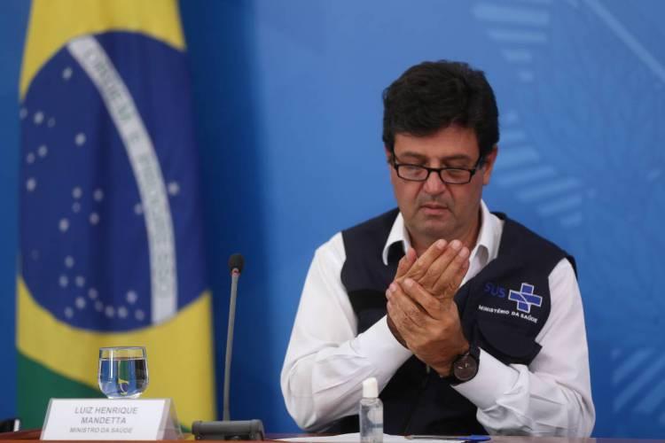 MINISTRO Luiz Henrique Mandetta, falou em coletiva sobre ações de combate ao covid-19  (Foto: Marcello Casal Jr/Agência Brasil)