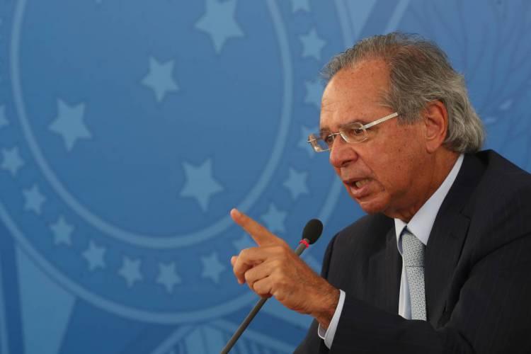 O Ministro da Economia Paulo Guedes é era um dos presentes na reunião do dia 22 de abril de 2020; disponibilização do vídeo na íntegra foi autorizado pelo STF  (Foto: Marcello Casal Jr/Agência Brasil)