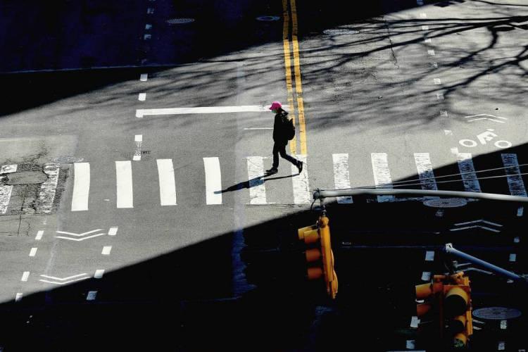 Nova York em 27 de março de 2020 (Foto: Angela Weiss / AFP)