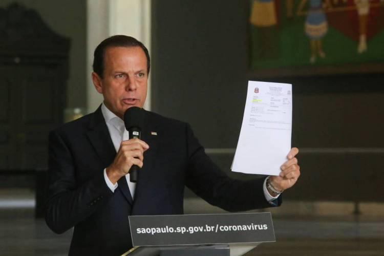 O Governador do Estado de São Paulo, João Doria, durante coletiva de imprensa sobre o Coronavírus (Foto: Sergio Andrade / Fotos Públicas)